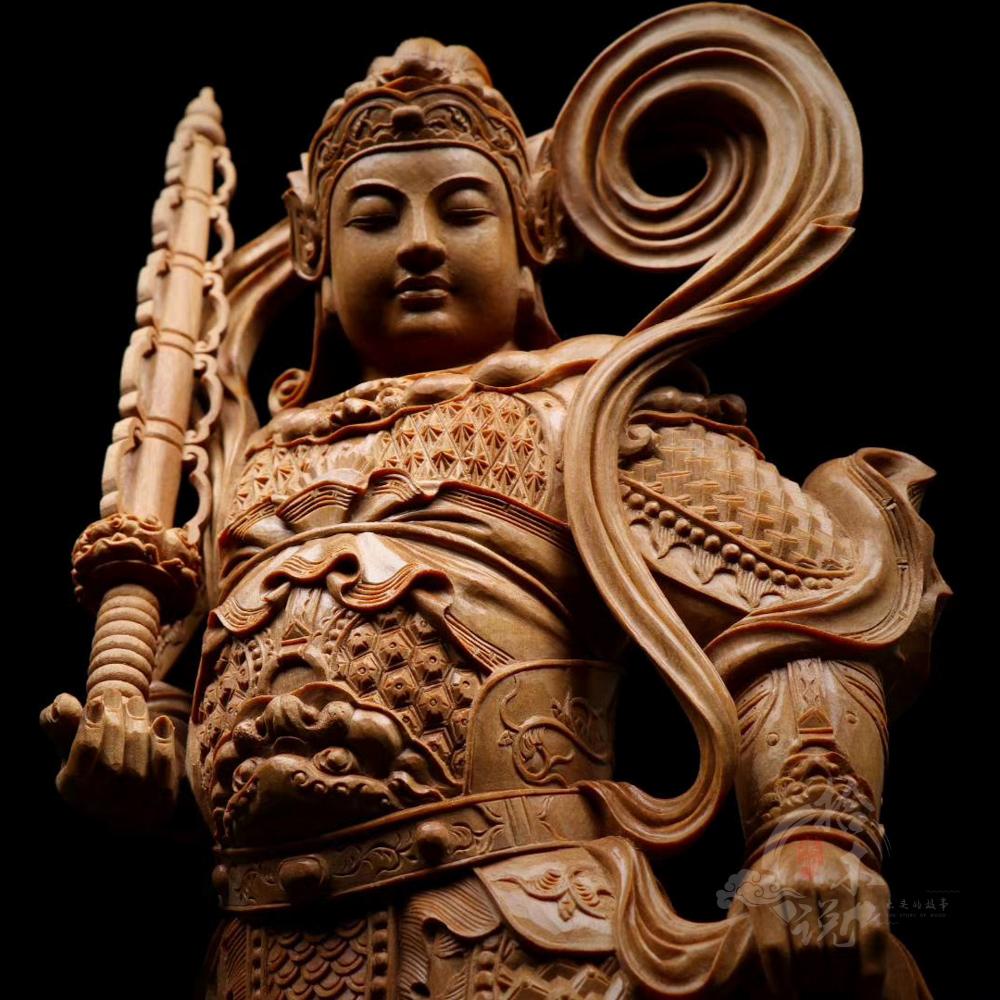 韦陀菩萨(印度老山檀香)|木雕工艺品